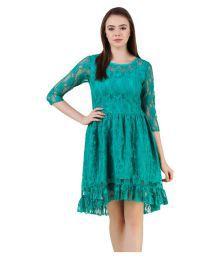 Yeshaa Sea Green Lace Dresses