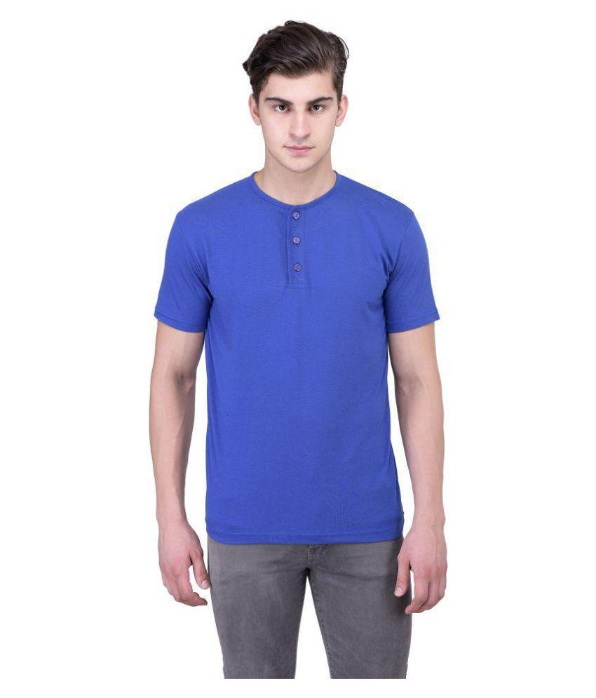 Vivid Bharti Blue Round T-Shirt