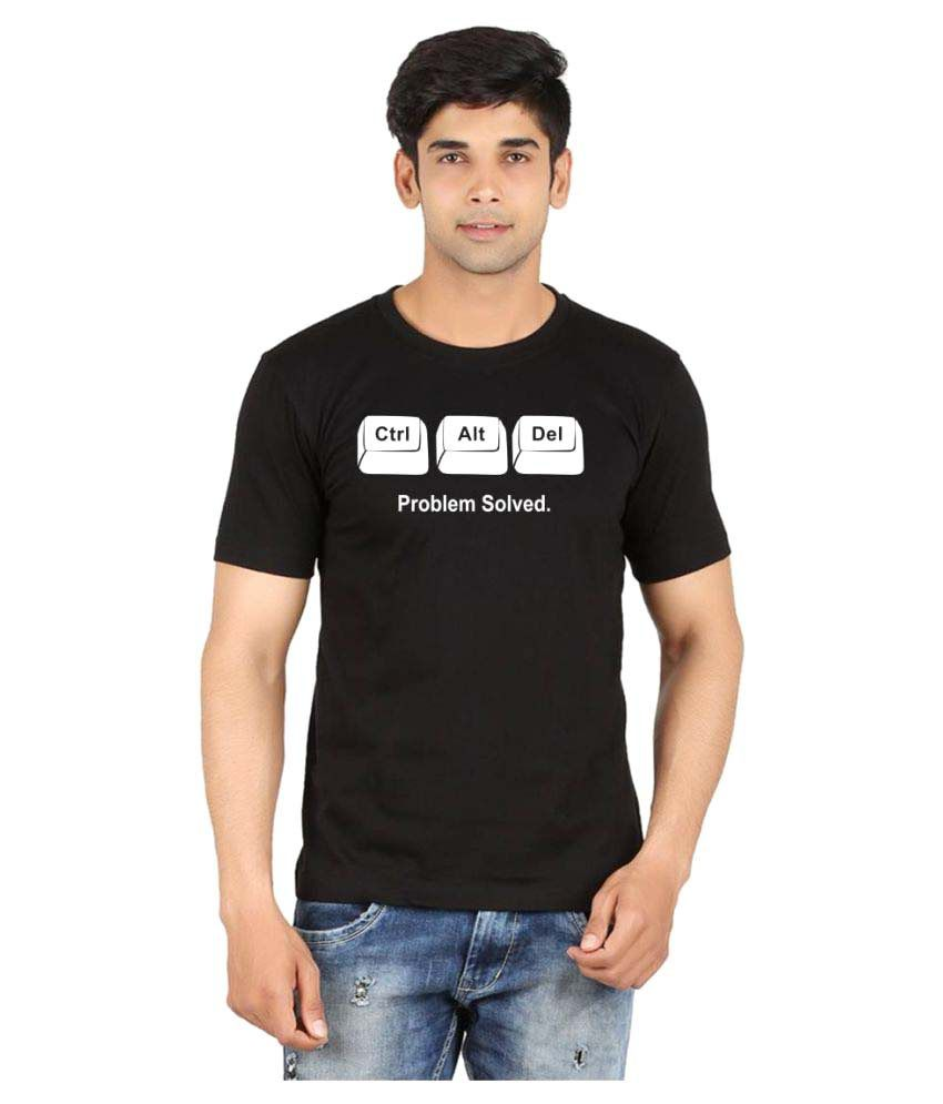 Xtees Black Round T-Shirt