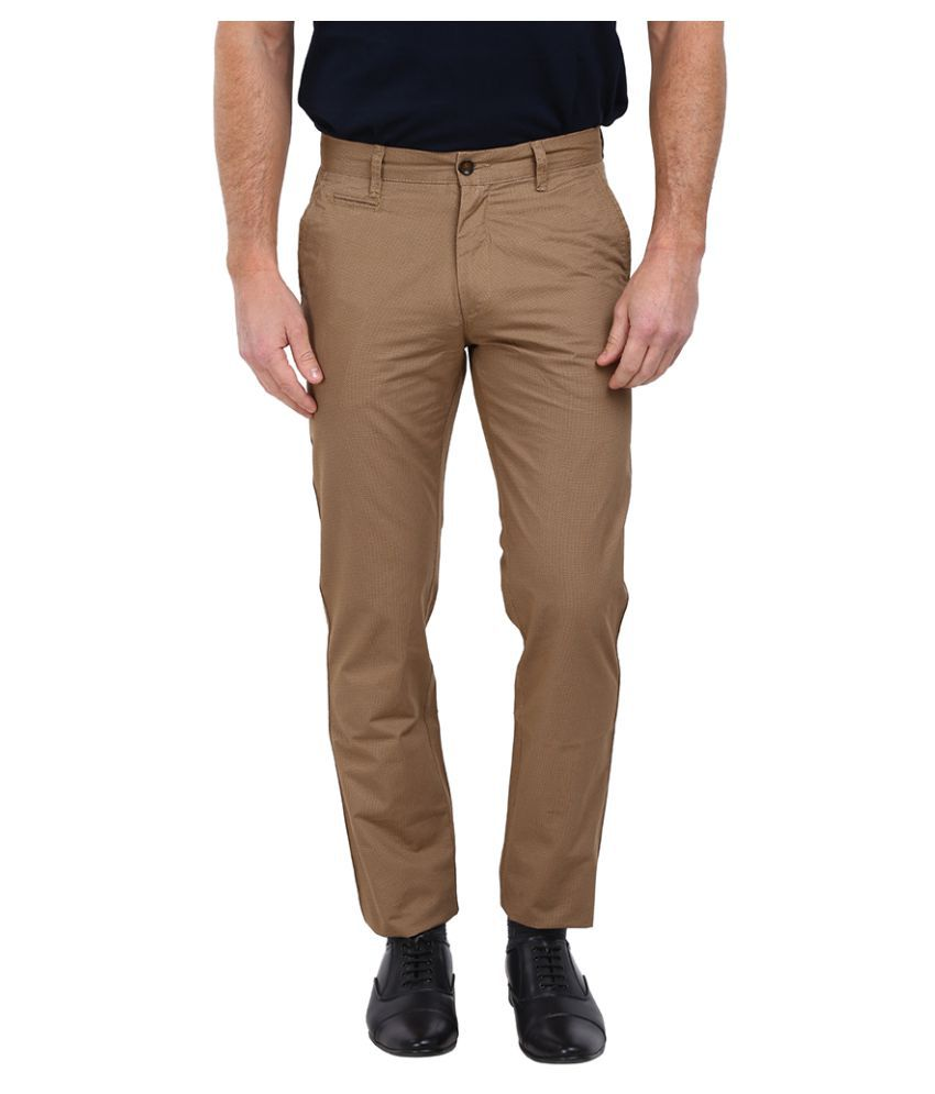 Arrow Sports Brown Slim Flat Trouser