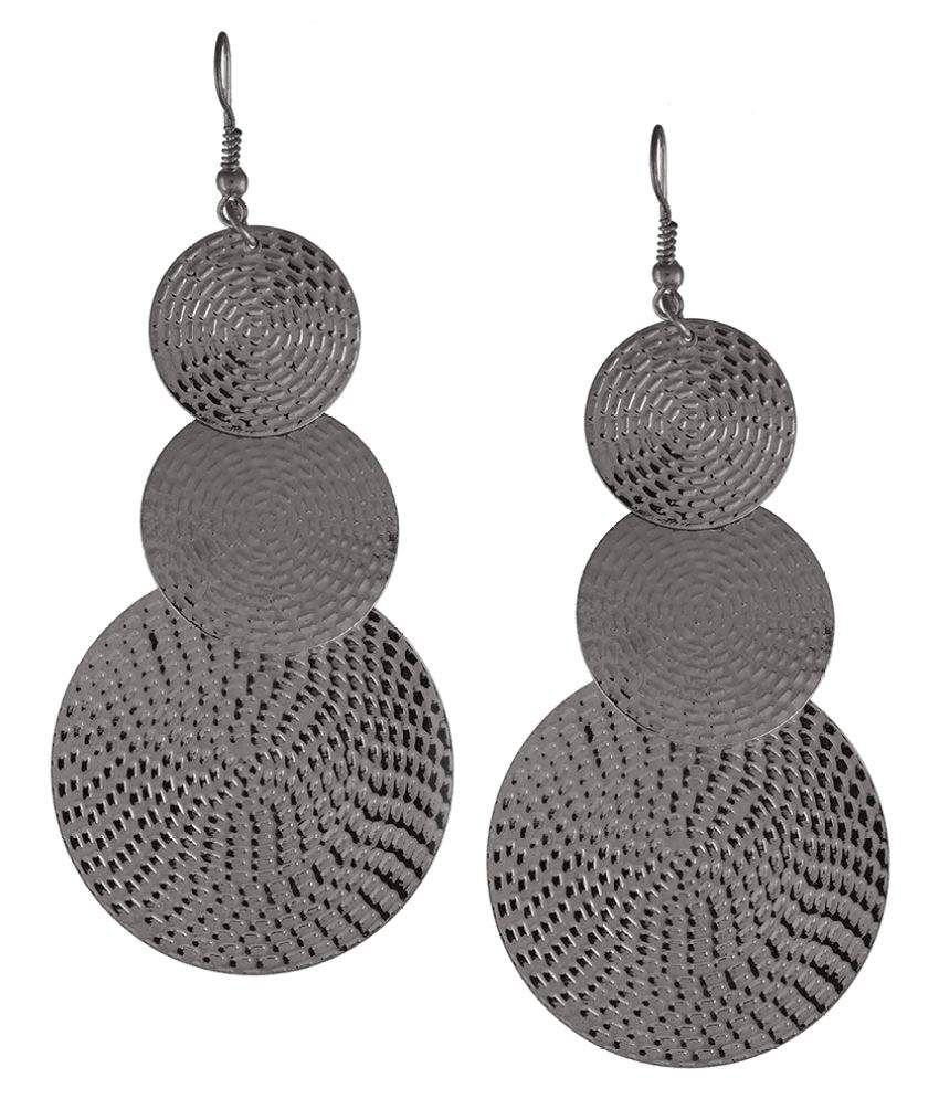 Trinetra Black Color Hangings Earrings