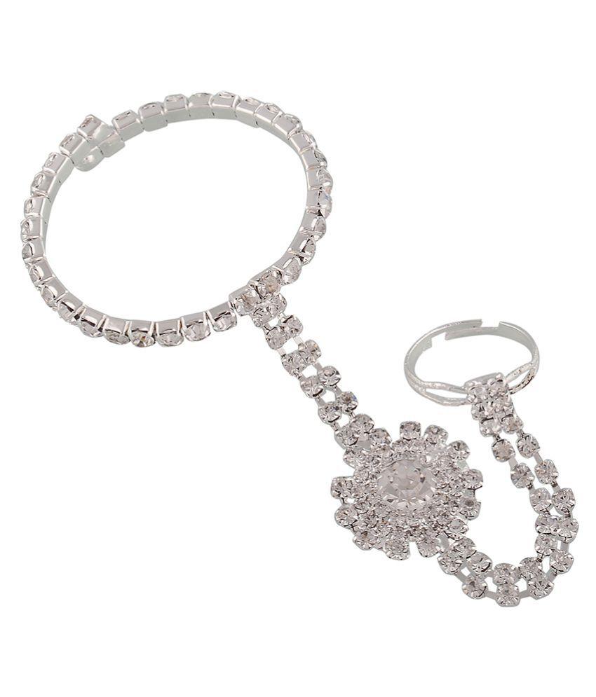 Trinetra Alloy Silver Bracelet