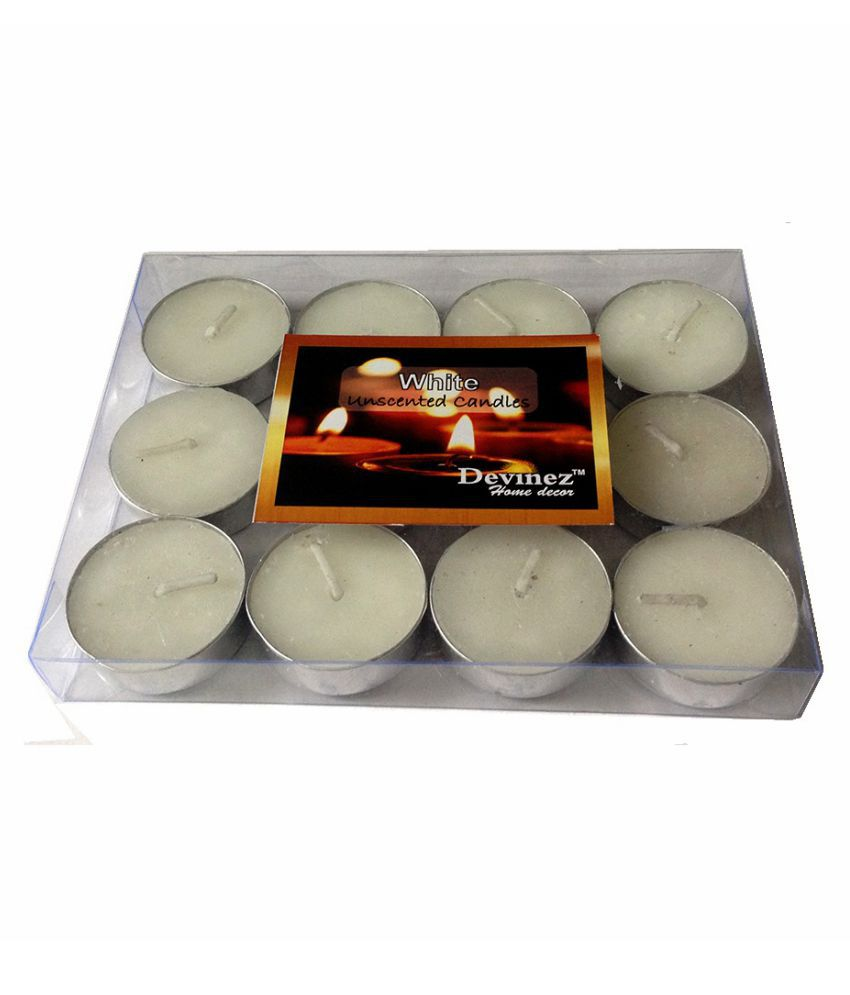 Devinez White Tea Light Candle - Pack of 12