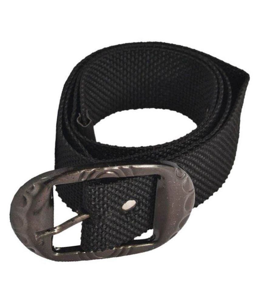 Elligator Black Canvas Casual Belts