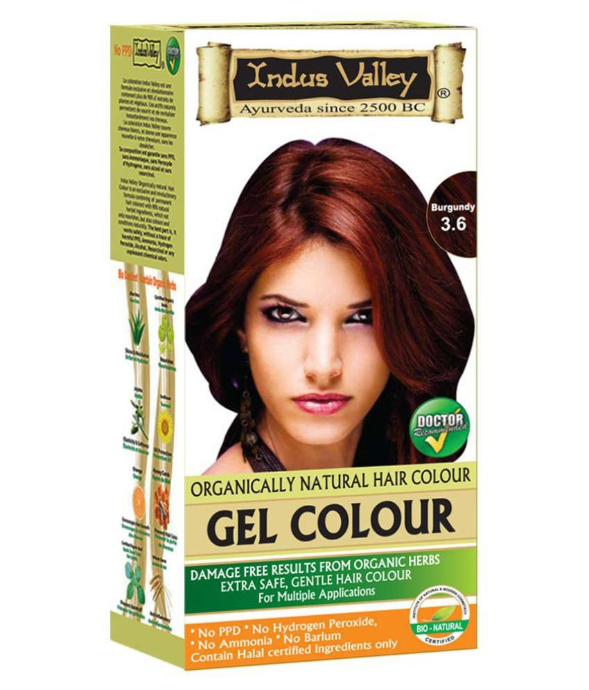 Indus Valley Organically Natural Permanent Hair Color Burgundy 3.6 220 ml