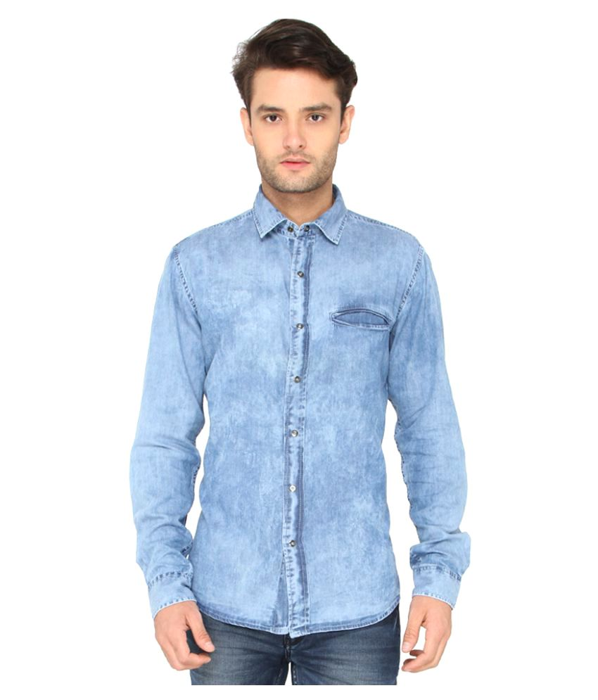 Bombay High Blue Casuals Slim Fit Shirt