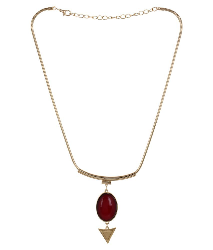 Fayon Red Alloy Necklace