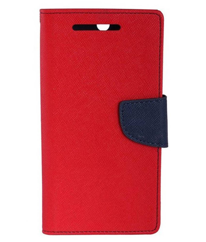 Micromax Canvas Doodle 3 A102 Flip Cover by MV - Red