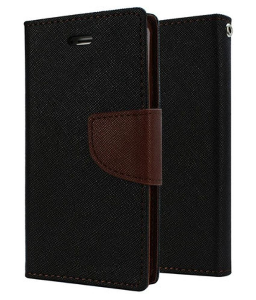 Micromax Canvas Doodle 3 A102 Flip Cover by MV - Brown