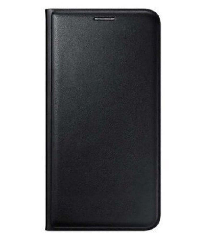 Samsung Galaxy A7 Flip Cover by MV - Black