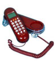 Shopo KX-T666 Corded Landline Phone ( Red )