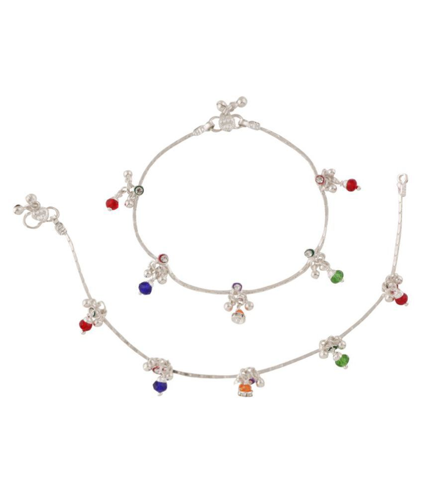 Fashionaya Multicolour Alloy Anklets
