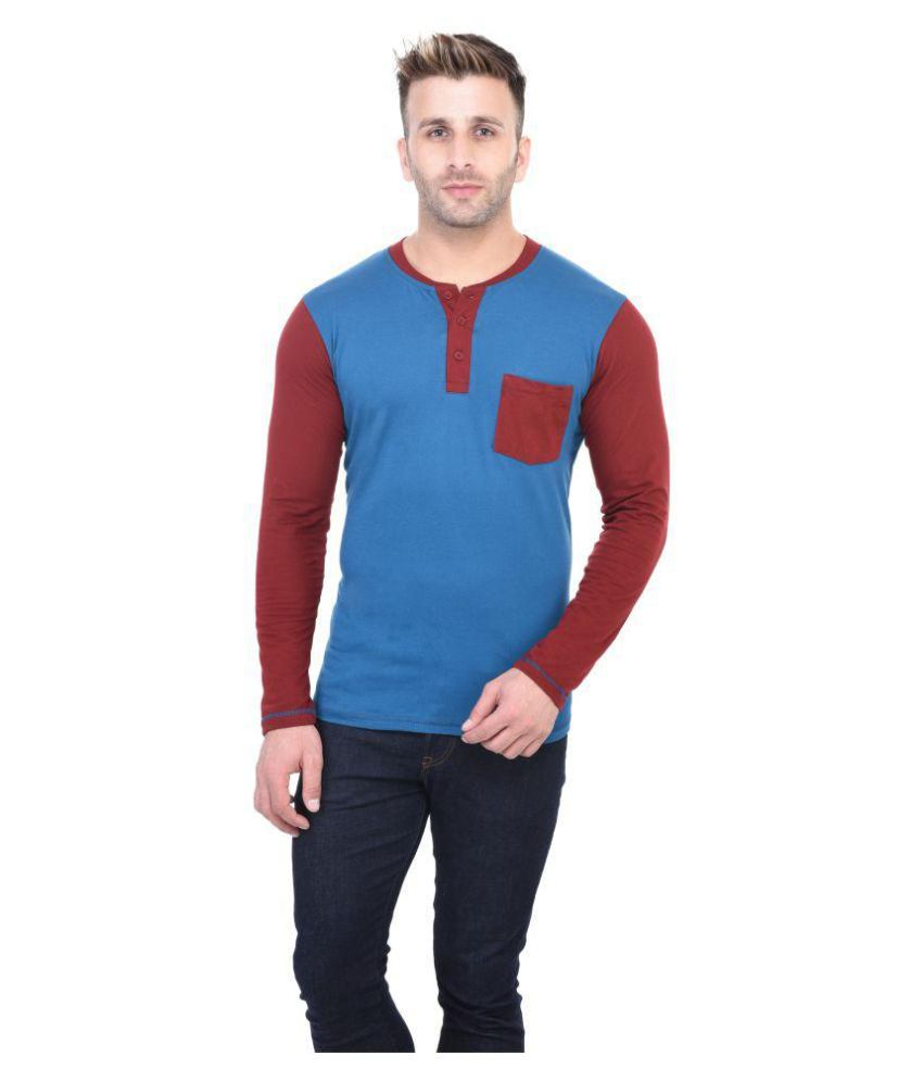 BI FASHION Turquoise Henley T-Shirt