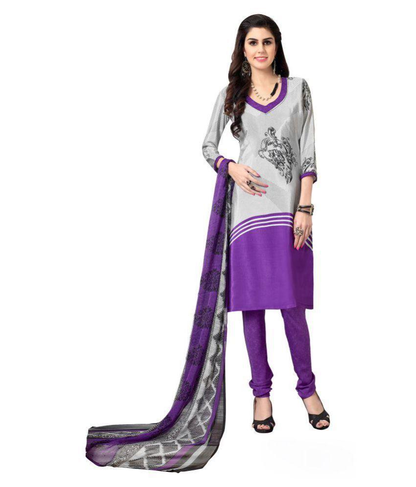 Kalki Traders Multicoloured Crepe Dress Material