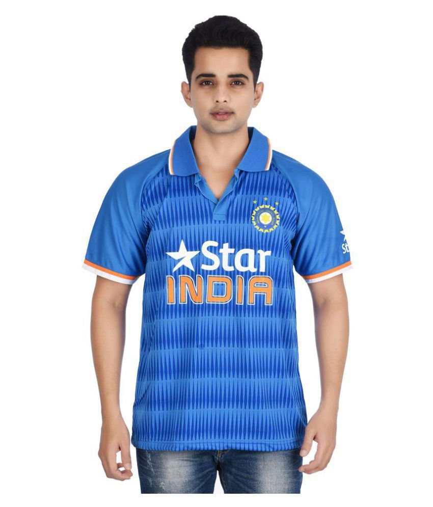 Attitude Blue Polyester Polo T-Shirt Single Pack