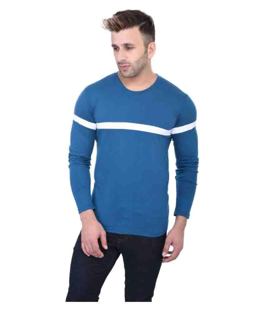 BI Fashion Blue Round T-Shirt