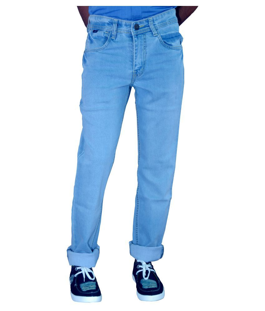 Blue Teazzers Blue Regular Fit Faded