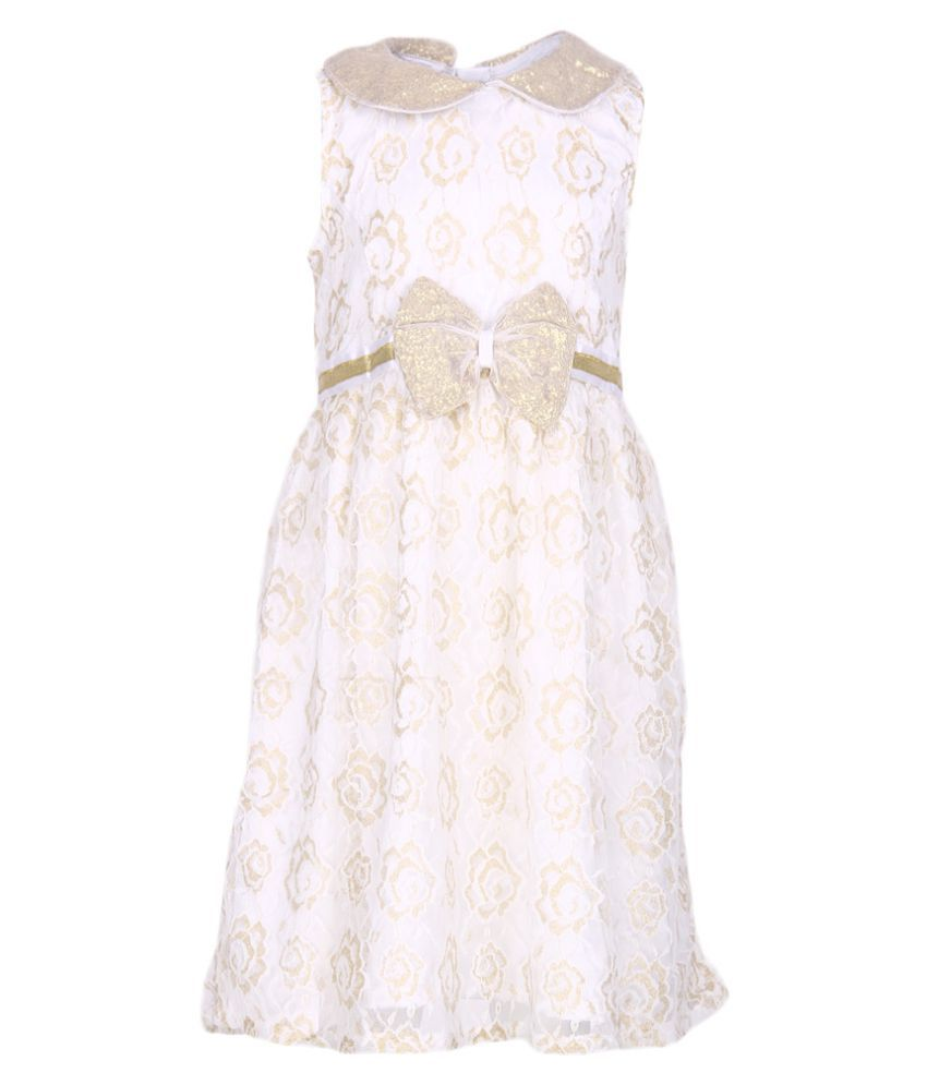 612 League White Lace Shift Dress at snapdeal