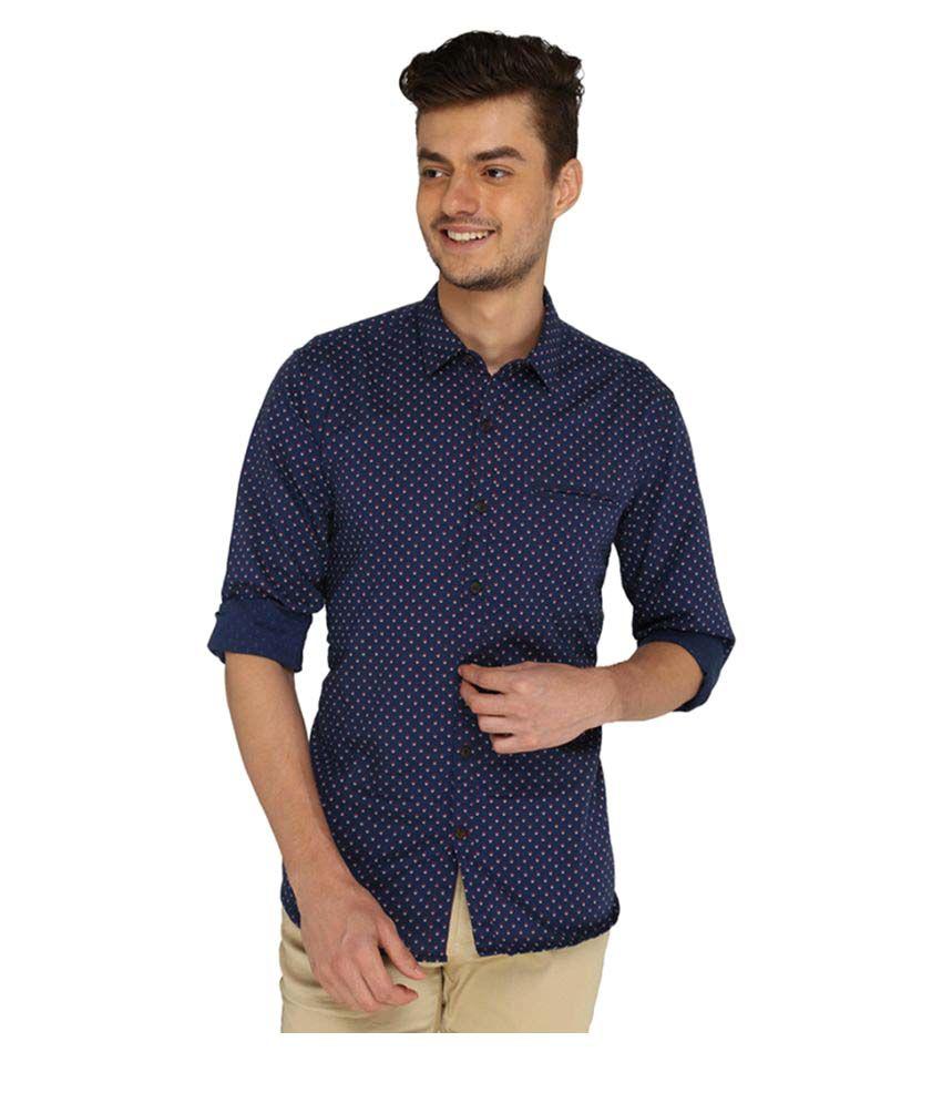 Jadeblue Blue Casuals Slim Fit Shirt