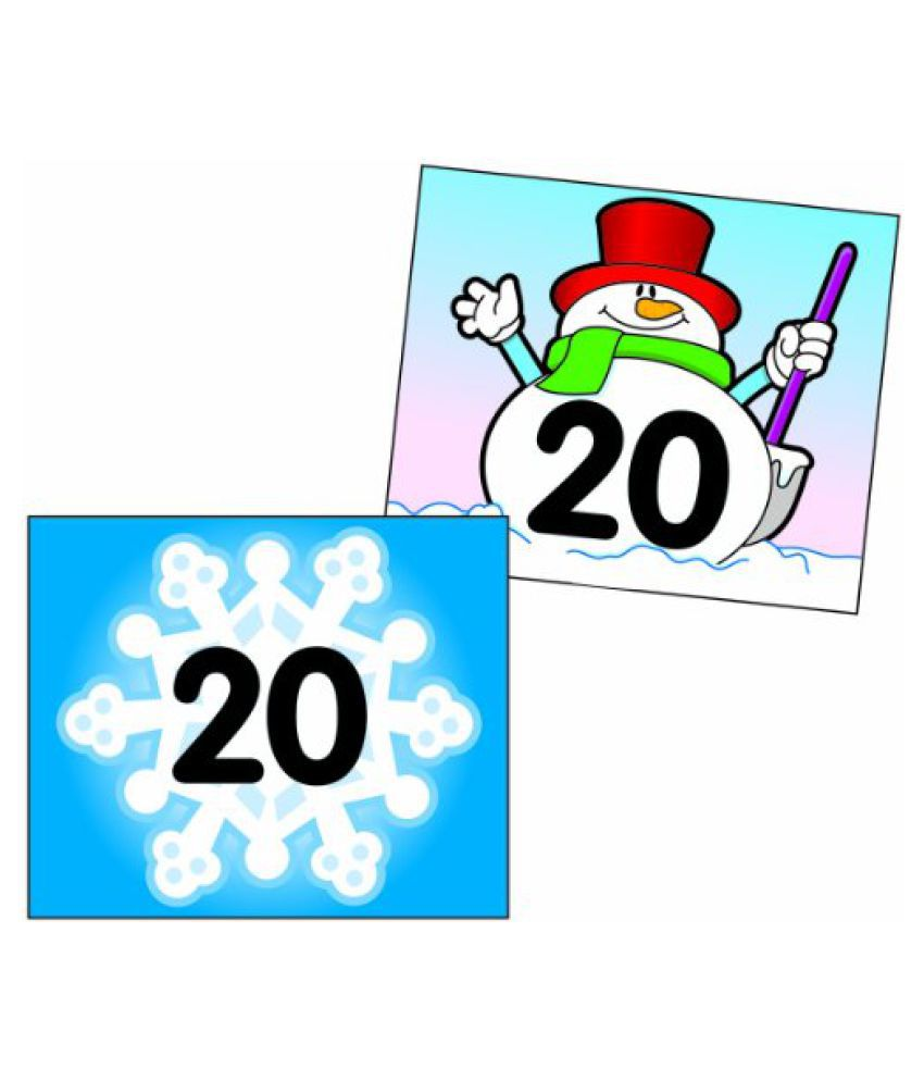 Carson Dellosa Snowflake/Snowman Calendar Cover Up (5444)