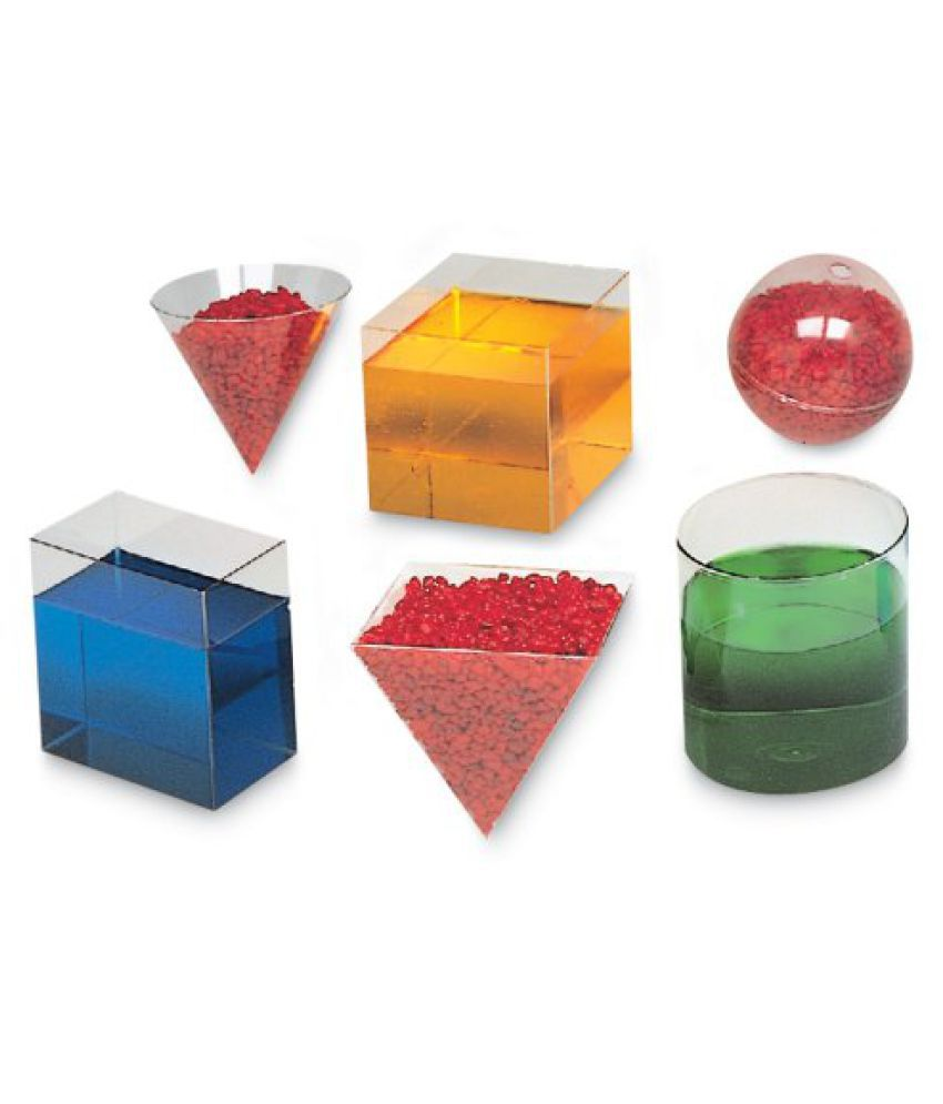 Learning Resources Clear Plastic Geometric Volume Set (LER0240)