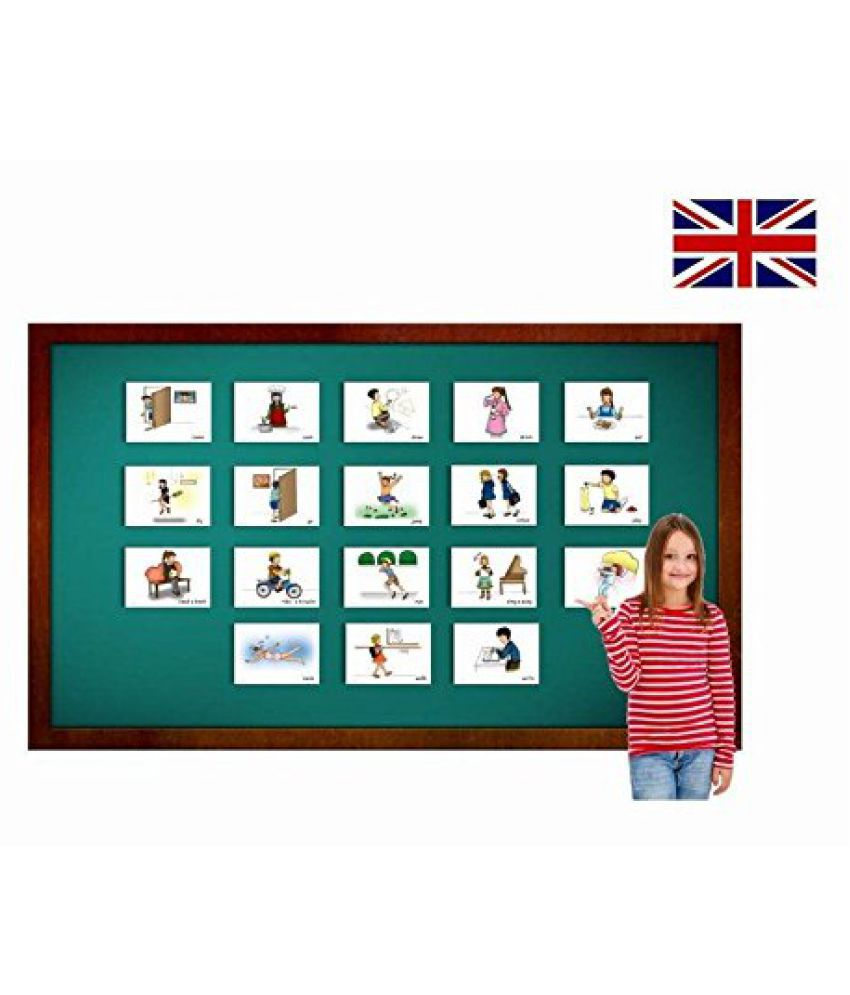 Verbs Flash Cards for Children - Set 1 - ESL Picture Cards for Language Teaching