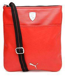 Puma Ferrari Red P.U. Casual Messenger Bag