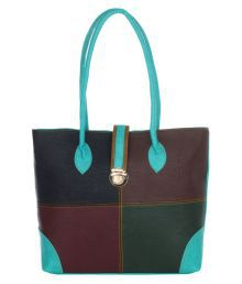 The Blue Pink Multi Pure Leather Shoulder Bag - 679807742406