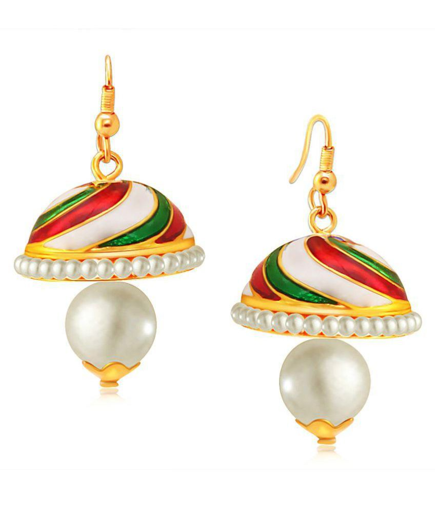 Spargz Multicolour Jhumki Earring