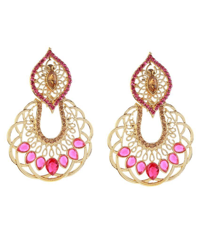 Kriaa Multicolor Hanging Earrings