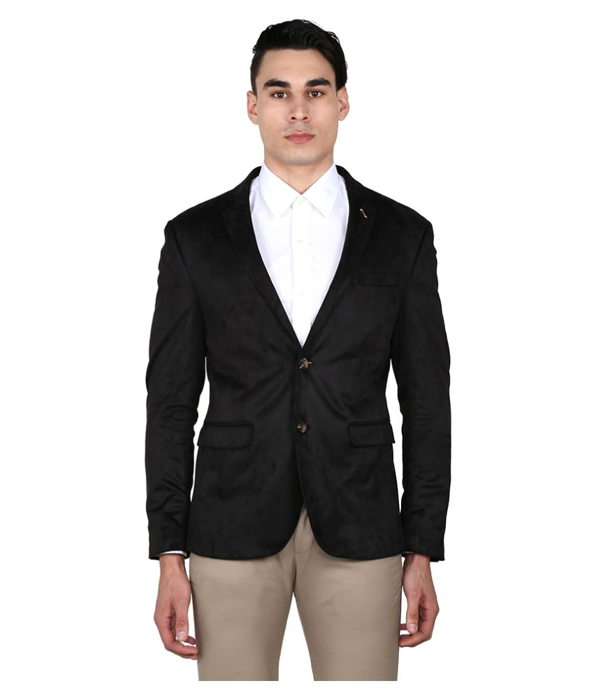 Arrow Black Solid Casual Blazers