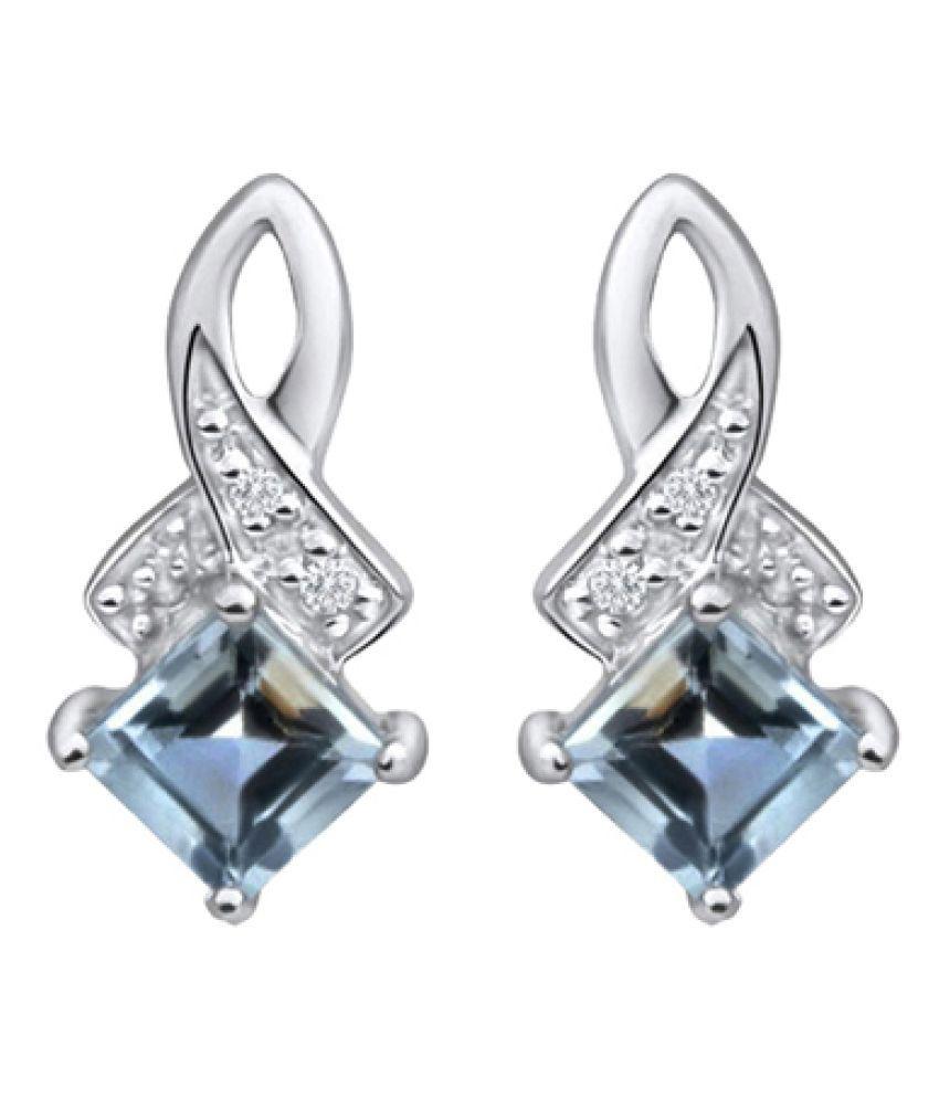 Voylla 92.5 Silver Diamond Hangings
