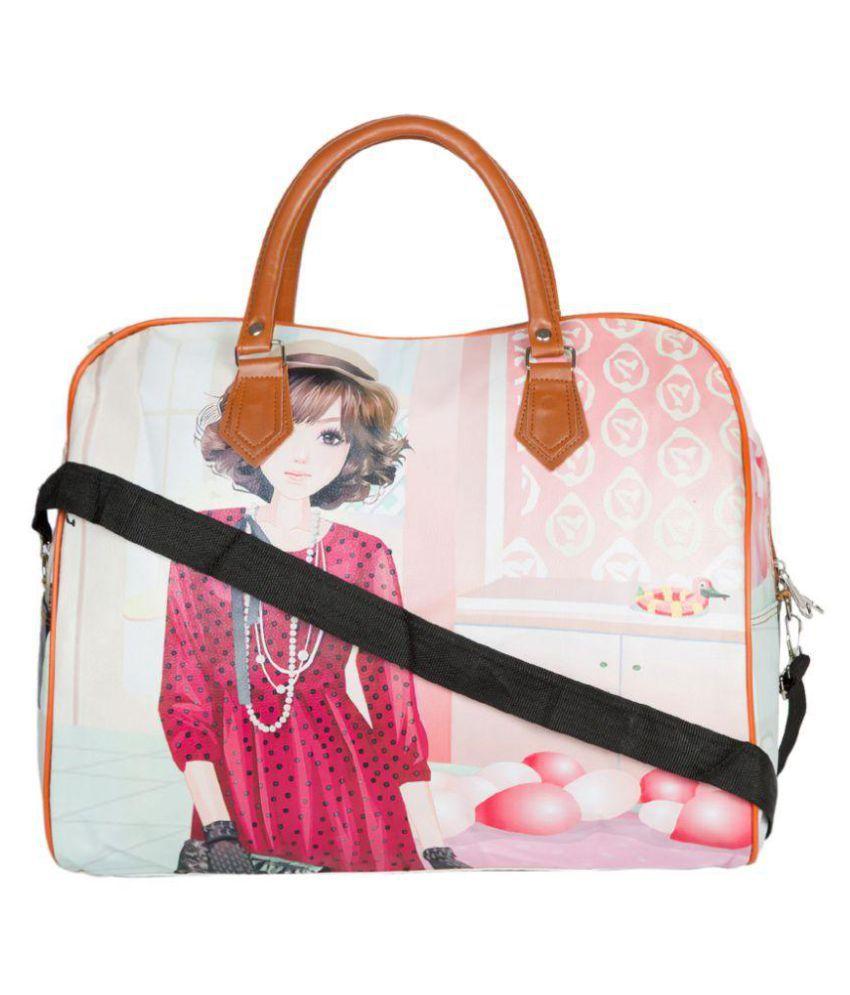 Pink beautiful princess smart classy bright colour duffle bag for girls -  Buy Pink beautiful princess smart classy bright colour duffle bag for girls  Online ... 5b58007ec9d3f