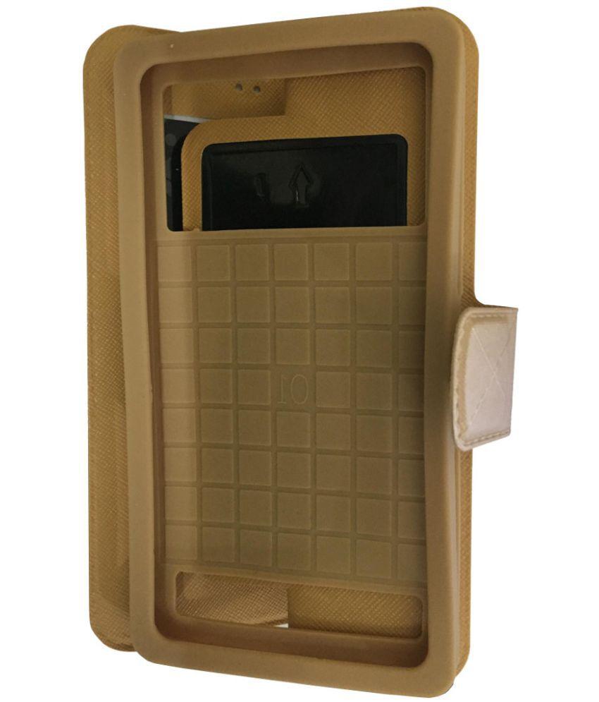 outlet store 84697 a5d52 Intex Aqua Fish Flip Cover by Lomoza - Golden