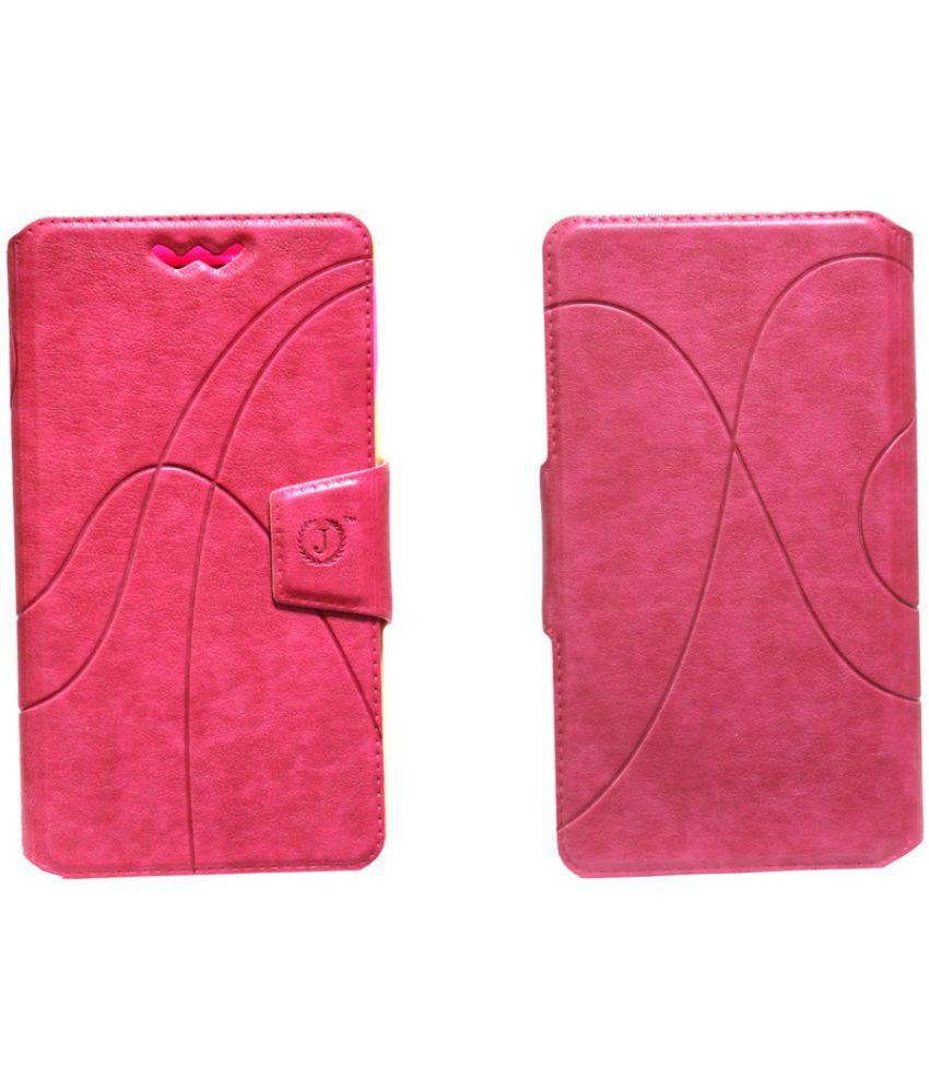 Samsung Galaxy Mega Plus Flip Cover by Jojo - Pink