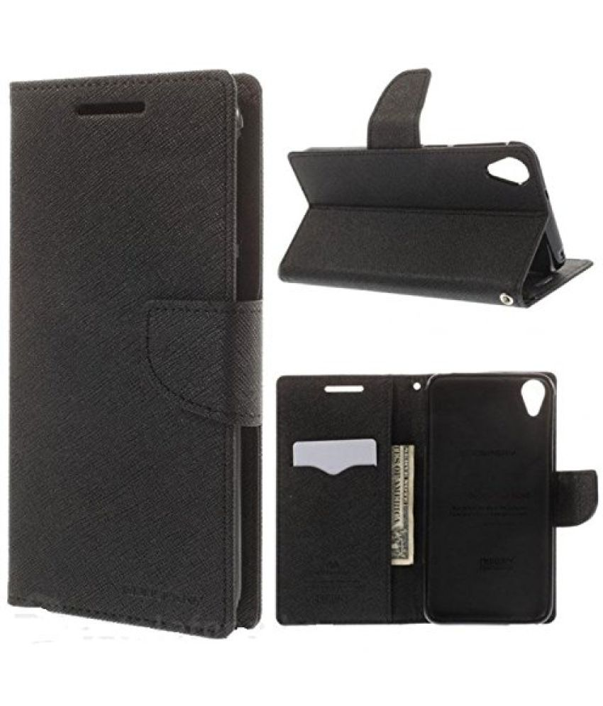 Micromax A093 Canvas Fire Flip Cover By Goospery Mercury   Black available at SnapDeal for Rs.499