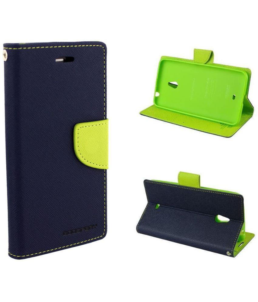 Micromax A093 Canvas Fire Flip Cover By Goospery Mercury   Blue available at SnapDeal for Rs.499