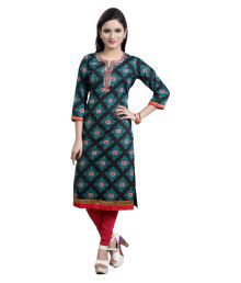 Cotton Culture Multicoloured Cotton Straight Kurti - 646243675764