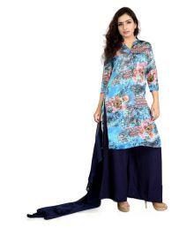 Cotton Culture Multicoloured Satin Straight Kurti - 675261340063