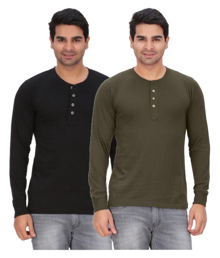 DNA Multi Henley T-Shirt Pack of 2