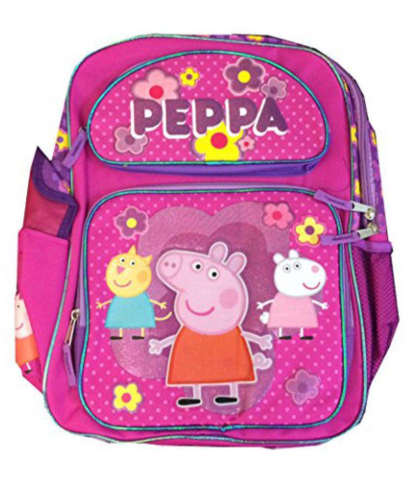 d607bbdd03 Children Peppa Pig Backpacks Kids Cartoon School Bag Large - 16 ...
