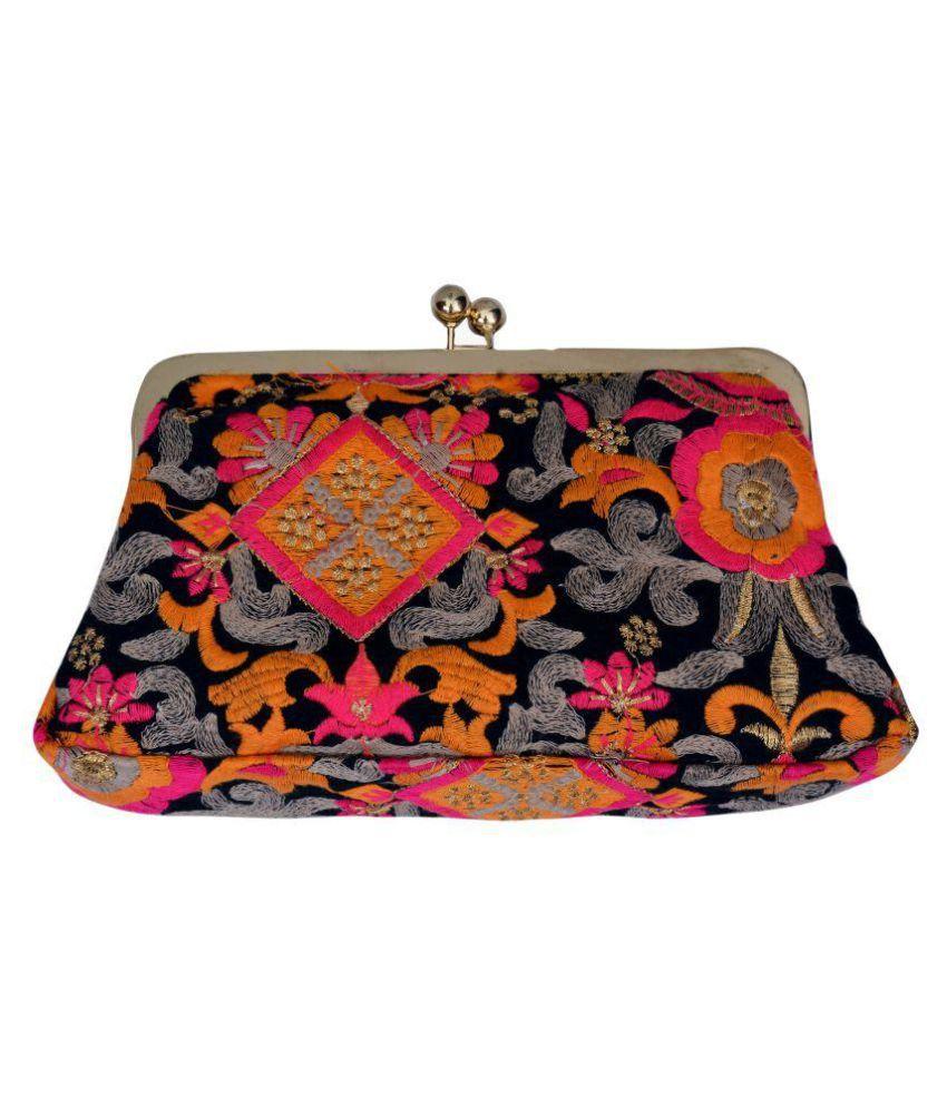 Craft Trade Multi Fabric Box Clutch