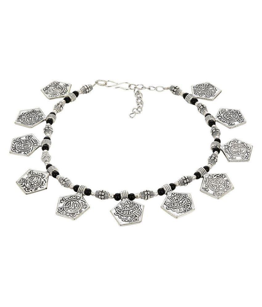 Prita Silver Pair of Anklets