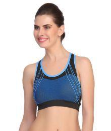 Dealseven Fashion Blue Nylon Sports Bras
