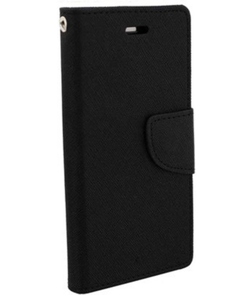Samsung Galaxy J2 Flip Cover by Cover Wala - Black
