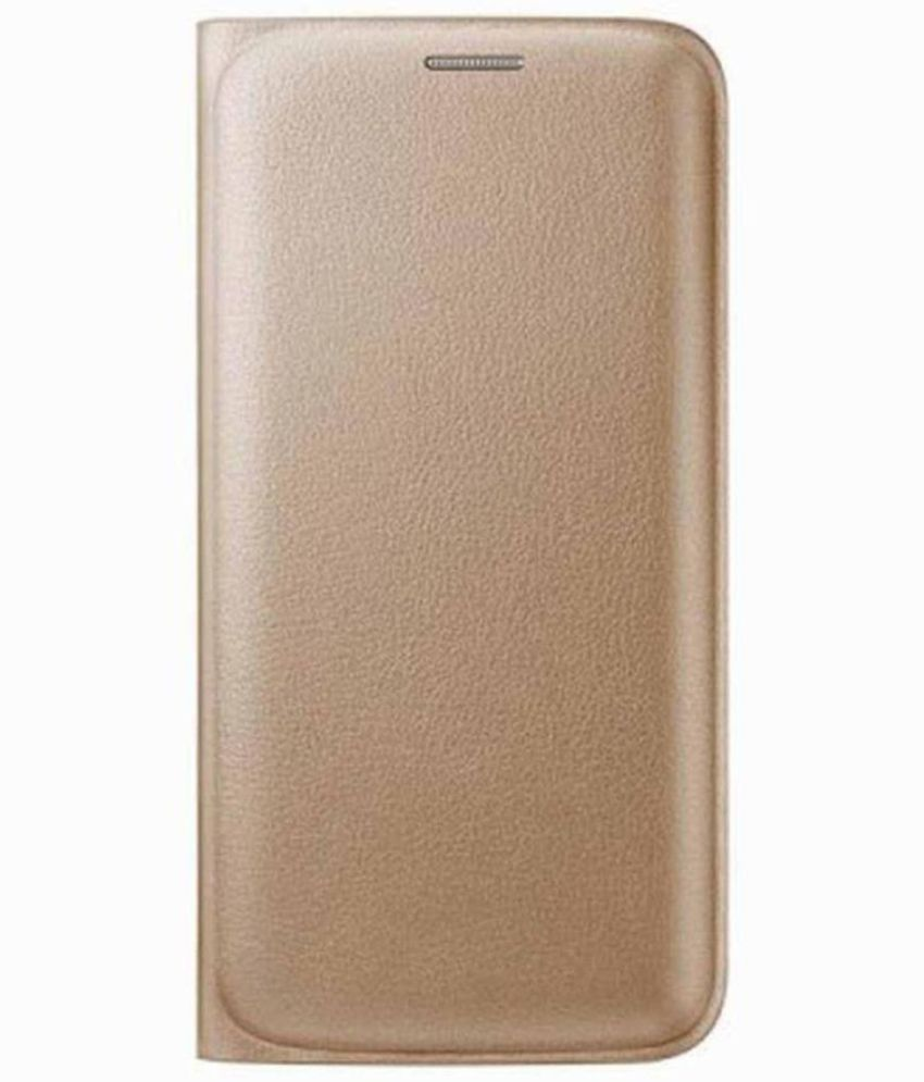 974c4a9f0a Samsung Galaxy On7 Pro Flip Cover by Cover Wala - Golden - Flip Covers  Online at Low Prices   Snapdeal India