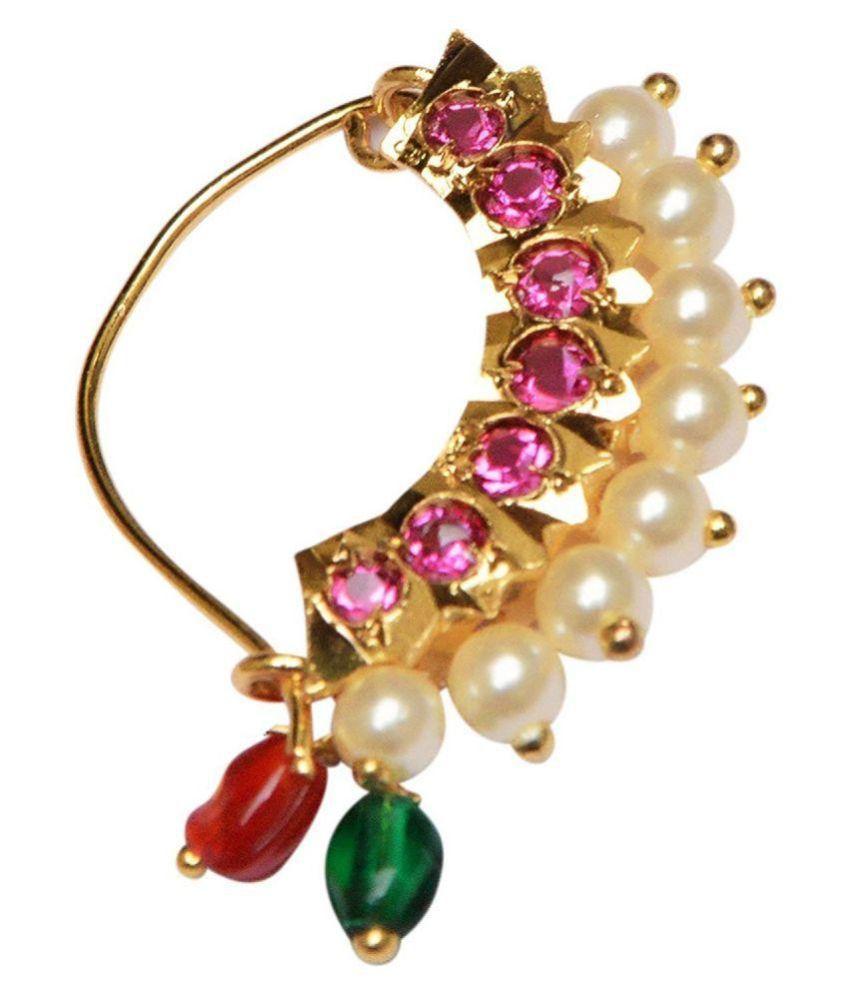 GirlZ! Fashion Multicolour Nose Ring
