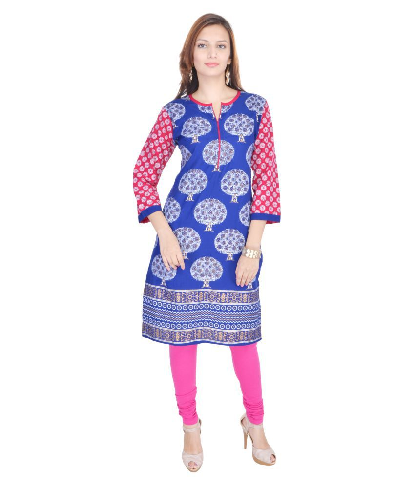 Mahaveer Fashion Multicoloured Rayon Straight Kurti