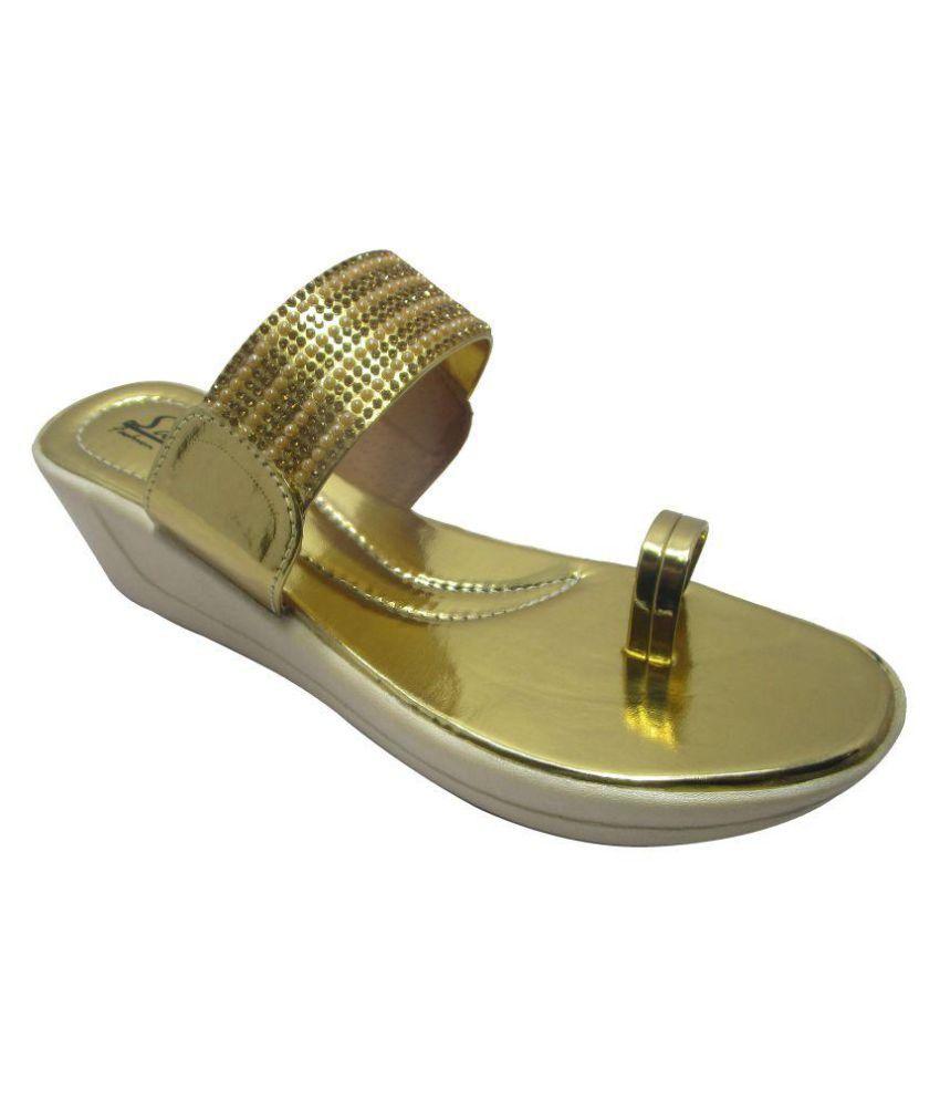 Sammy Gold Wedges Heels