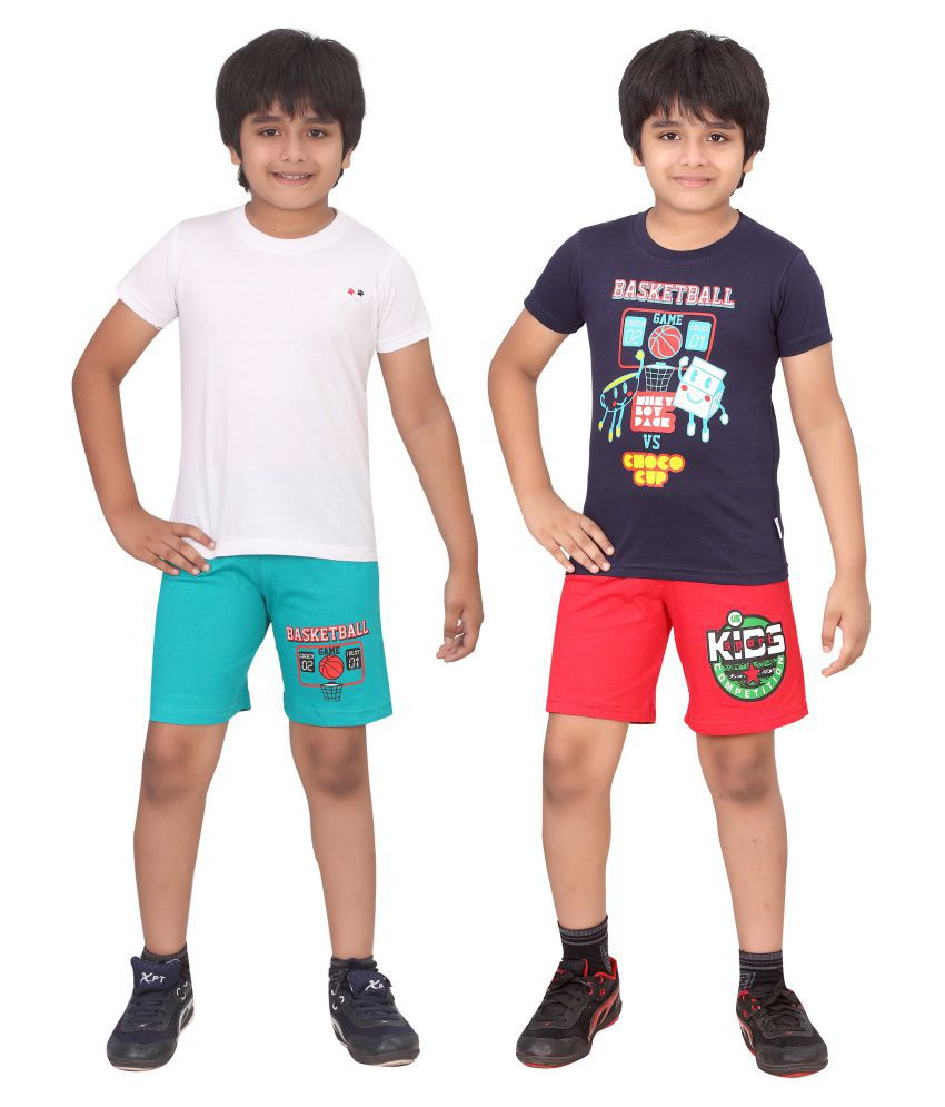 Dongli Multicolour Top and Bottom Set for Boys - Set of 2